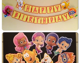 2 sets of Bubble guppies party decoration