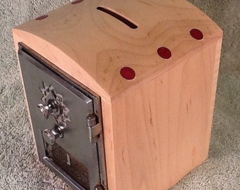 Maple and Purpleheart Post Office Box Bank / Safe