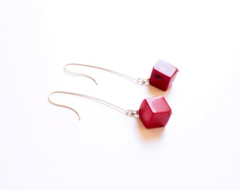 Bamboo Coral earrings and Silver 925