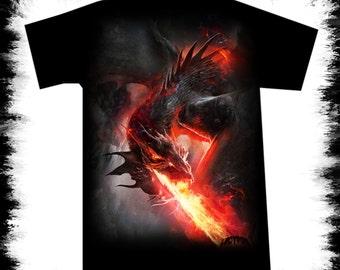fire dragon t shirt