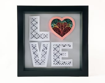 LOVE Quilled Paper Art