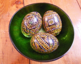Hand Painted Wooden Decorative Eggs