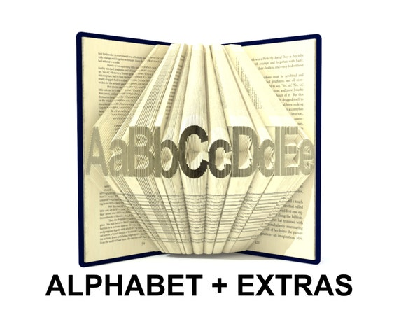 Book folding alphabet 4 mini font book by simplexbookfolding