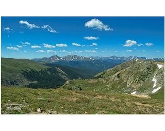 Colorado Rocky Mountains, Missouri Mountain, Sawatch Mountain Range, Rockies, Snow, Rugged, Terrain, High Country, Distant Peaks, Blue Sky