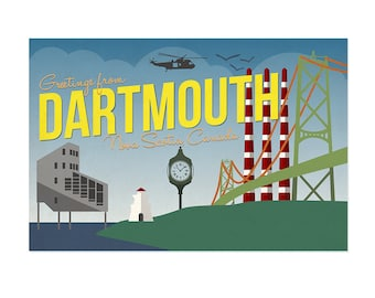 Dartmouth Postcard - Greetings from Dartmouth, Nova Scotia, Canada // Post Card