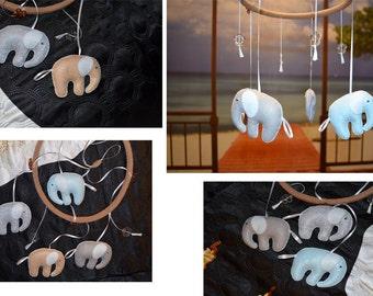 Baby mobile – Elephant mobile – Suspension in crib – Nursery decor