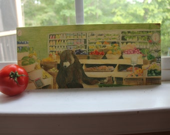 When Bears Buy Groceries, Animal Art Print