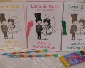 Personalised Children's Wedding Activity Books