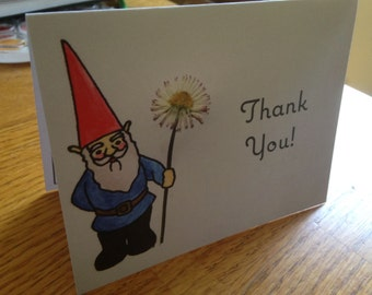 Gnome Thank You Cards