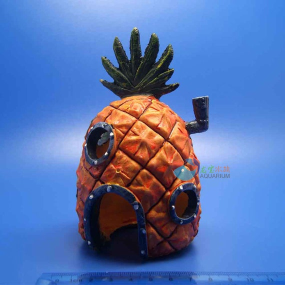 aquarium decoration pineapple house hole for by