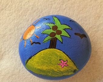 Island Painted Rock