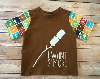 I Want S'more shirt, ready to ship