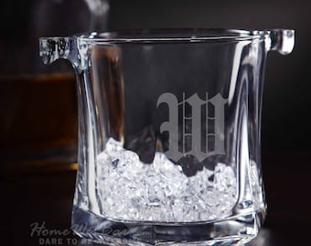 Just Chilled Personalized Glass Ice Bucket - Personalized Gifts