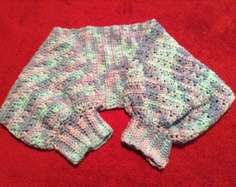 Multicolor crocheted shrug