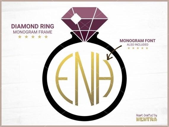 Circle Monogram Frame Elegant Diamond Bridal Ring By Nentra