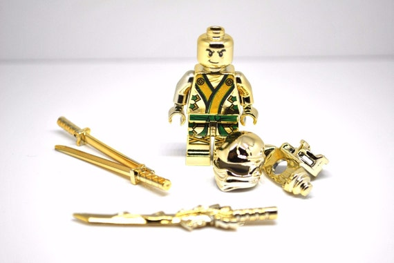 Custom Lego Ninjago Minifigure Chrome Gold Lloyd Zx By