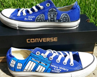Doctor Who Painted Sneakers