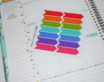031// 14 Rainbow Arrow Flag Stickers
