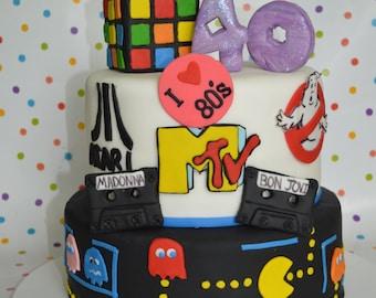 I Heart The 80s cake decorating Kit (100% Edible)