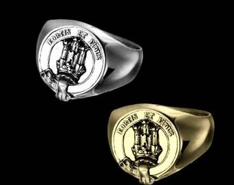 Clan Maclachlan Crest Men's Signet Ring