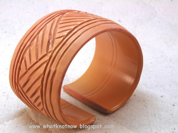 Carving A Basket Weave Pattern On A Gunstock : Items similar to open back cuff bracelet hand carved