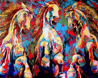SOLD Untamed- Large painting