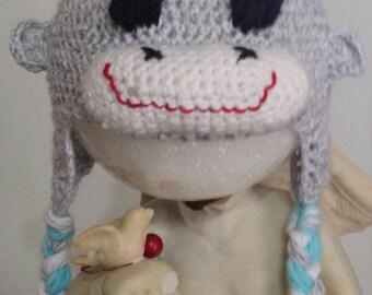 baby to toddler boy or girl monkey hat