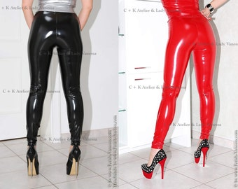 C + K very shiny PVC leggings trousers pants very glossy and stretchy, handmade, new