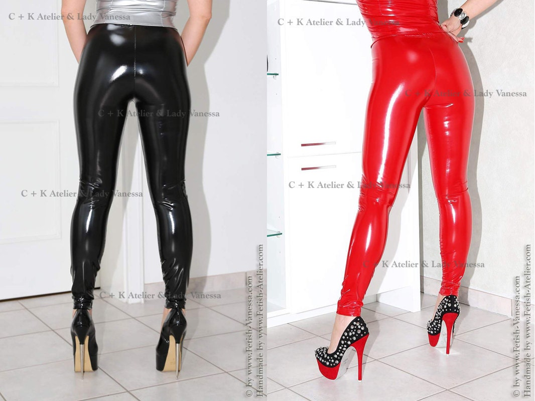c k very shiny pvc leggings trousers pants very glossy and
