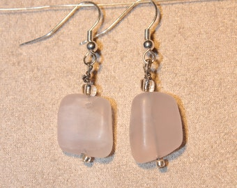 Earrings - rose quartz