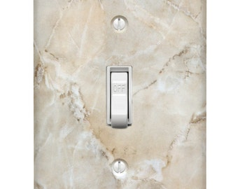 Ivory Marble Single Toggle Light Switch Cover