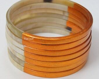 Horn & Lacquer Bangle Bracelet-V17O