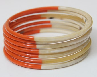 Horn & Lacquer Bangle Bracelets-V18O