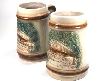 2 beer mugs, Schwarzatal (1707)