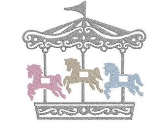 carousel machine embroidery design