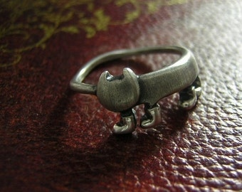 "cat silver ring "" miaow in boots """