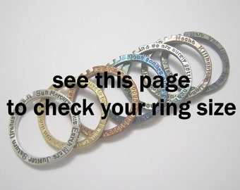 ring size chart ( not for sale )