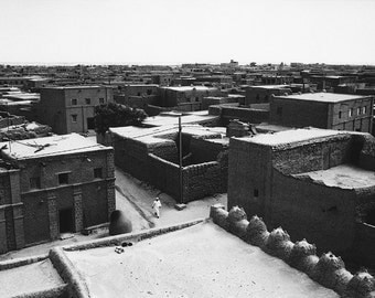 Downtown Timbuktu, Mali 1996, Fine Art Print, clay houses in the center