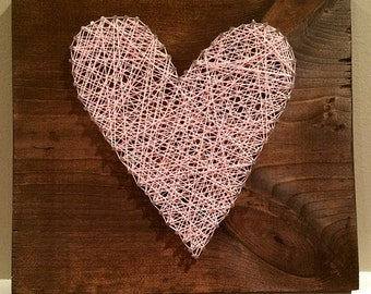 heart string art.