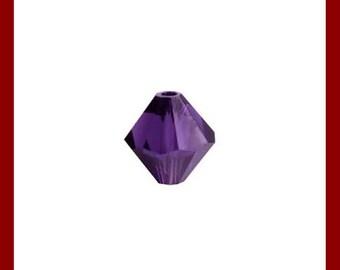 Bead faceted bicone in semicristallo Viola 60 PZ