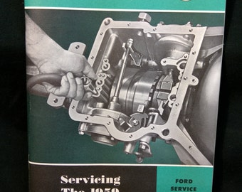Original 1959 Ford Issued Service Manual for the Fordomatic Transmission / Like New