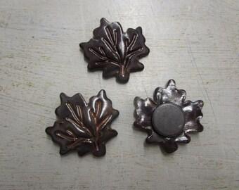 Maple Leaf Pottery Fridge Magnet