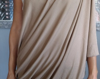 Nursing scarf-Breastfeeding cover Brown with dotted pattern