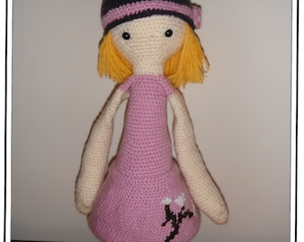 Blossom the Crochet Doll Inspired By lalylala