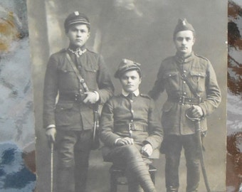 RPPC Postcard WWI Era Soldiers Russian Croatian