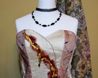 Ladies Steampunk Corset Size 12/14