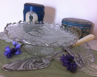 Vintage Glass Cakestand