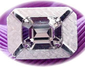 Anson Cuff Links with Crystal Center