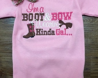I'm a boots and how kinda girl onesie, western shirt,  rodeo shirt, onesie, cowboy shirt