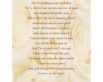 Thank you for being our Maid of Honour Poem